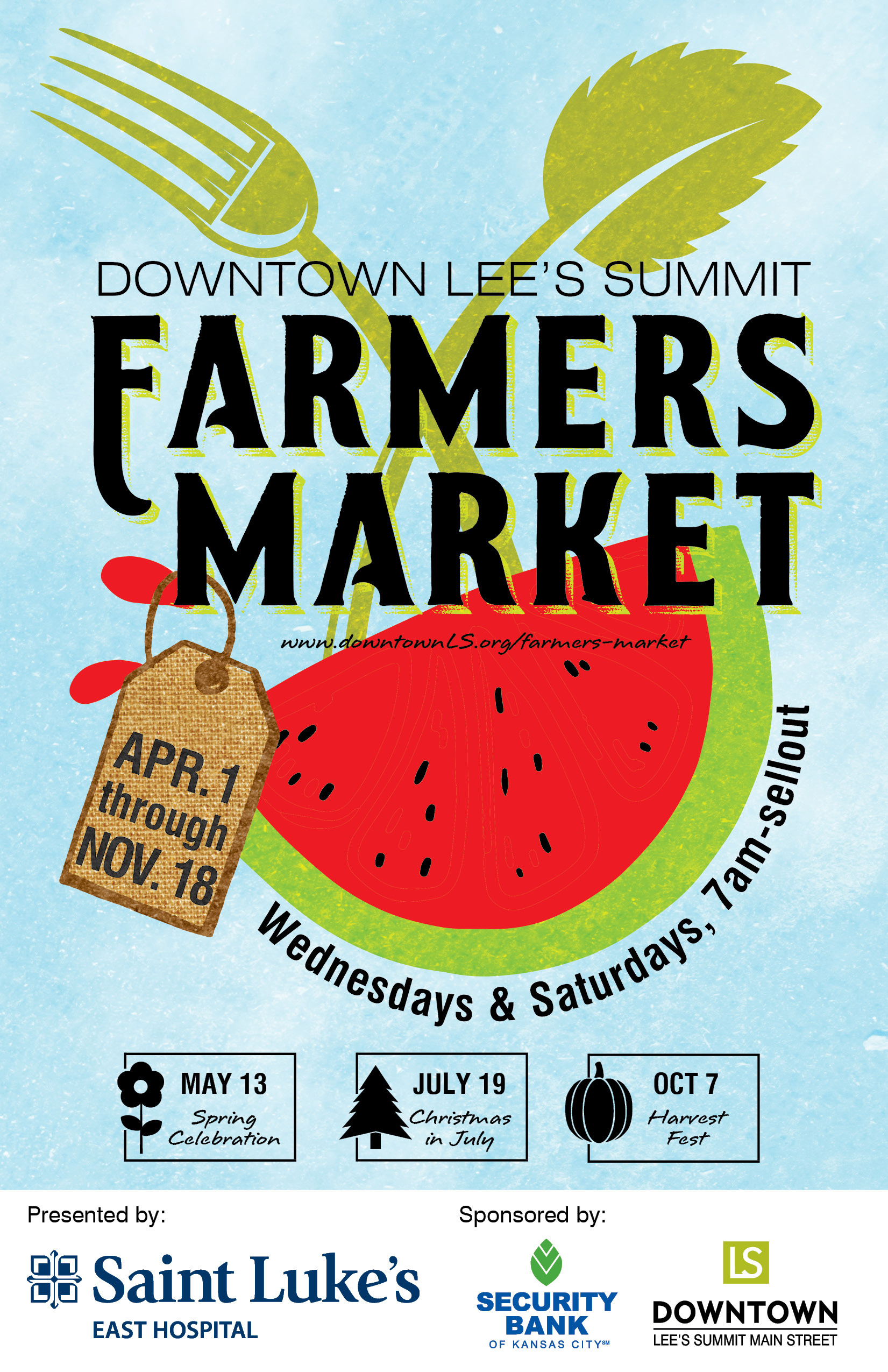 Downtown Lee's Summit Farmers Market Poster 2017